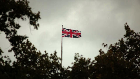 Union Jack flying in the wind Live Action