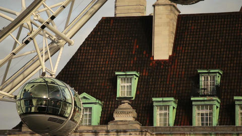 London eye capsules with building in background in London, England Footage