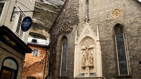 Europe, Austria, Salzburg area, view of ivy church growing on walls - San Biagio Footage