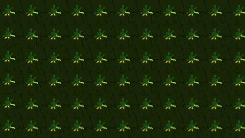 Green leprechaun hats St. Patricks Bacjground Stock Video Footage