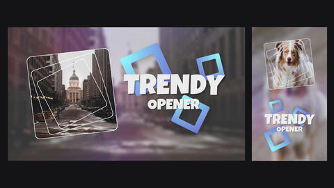 Trendy Stylish Dynamic Opener Slideshow Horizontal and Vertical Premiere Pro Template