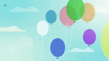 Balloons Logo 2 version + vertical After Effects Template