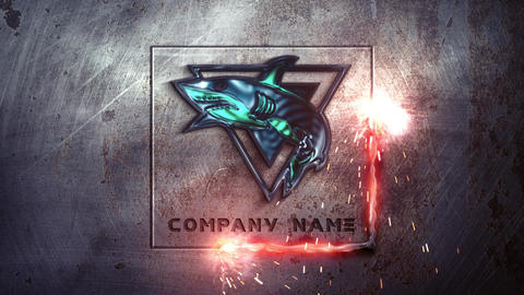 Metal Industrial Logo After Effects Template
