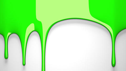 Green liquid on white background, CG動画素材
