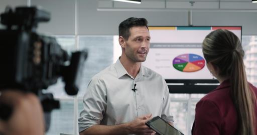 5 Journalist In Corporate Interview Footage