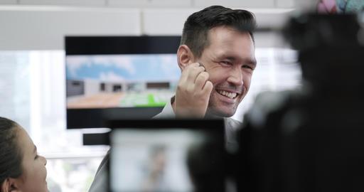6 Journalist In Corporate Interview Footage