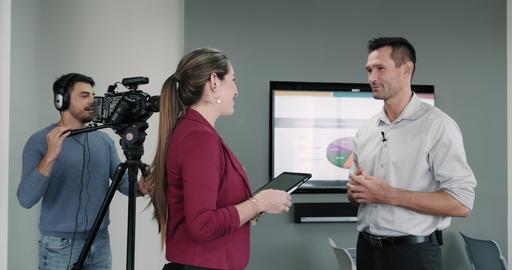 9 Journalist In Corporate Interview Footage