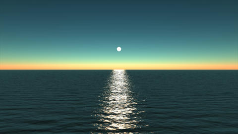 Moonlight on the ocean Animation