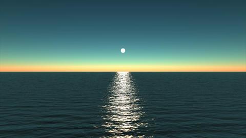 Moonlight on the ocean Stock Video Footage