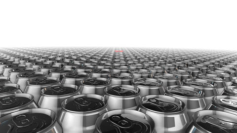 metal beverage cans in different color Animation