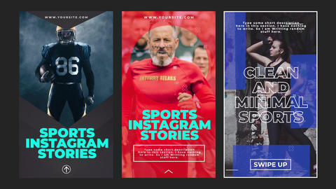 Sports Instagram Stories Motion Graphics Template