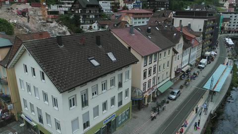 Drone aerial of Bad Wildbad, Germany Live Action