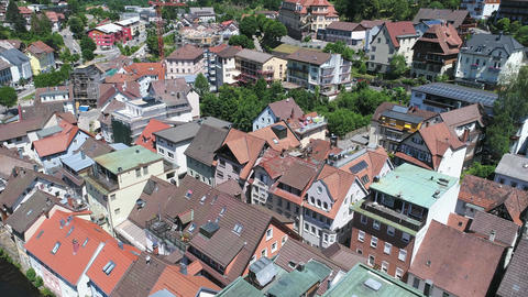 Downtown Bad Wildbad from above Footage