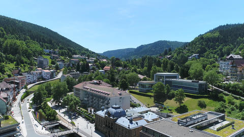 End of Bad Wildbad from above Footage