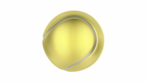Golden tennis ball GIF