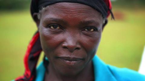 KENYA-C. 2012 Headshot of a mature African woman in Kenya, Africa c.2012 Footage