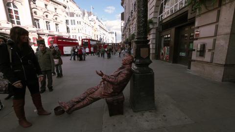 Street performer in London Footage
