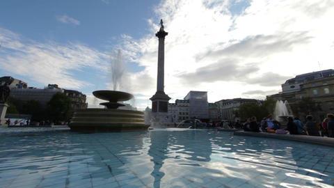 Trafalgar Square from a fountain Footage