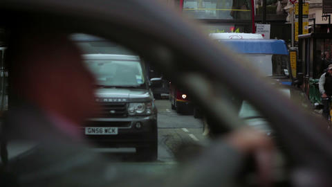 LONDON - OCTOBER 7: Traffic passing by on October 7, 2011 in London Footage