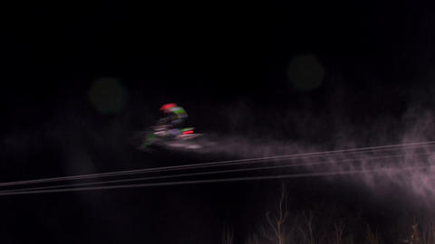 Snowmobiling competition Footage