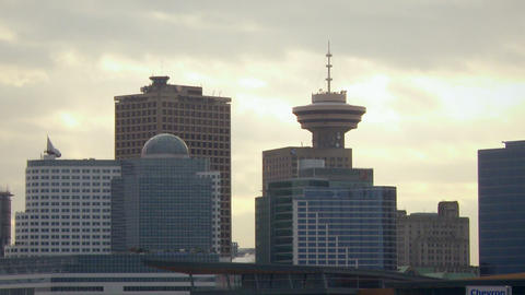 Medium shot of Vancouver skyscrapers Footage