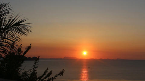 a time-lapse of the sunset on Koh Phangan Thailand Footage