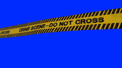 Crime scene yellow tape police line do not cross Animation