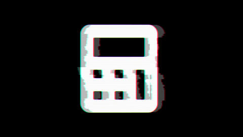 From the Glitch effect arises calculator symbol. Then the TV turns off. Alpha Animation