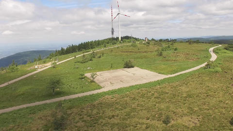 Aerial of hill top of Hornisgrinde in Baden-Wuerttemberg Footage