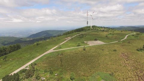 Mountain top of Hornisgrinde in Baden-Wuerttemberg Footage