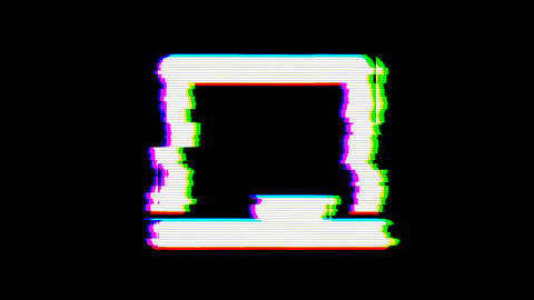 From the Glitch effect arises chalkboard symbol. Then the…, Stock Animation