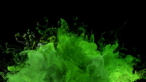 Green Uprising Color Burst colorful smoke explosion fluid particles alpha matte Animation