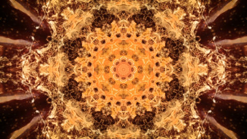 Kaleidoscopic orange animated background loop GIF