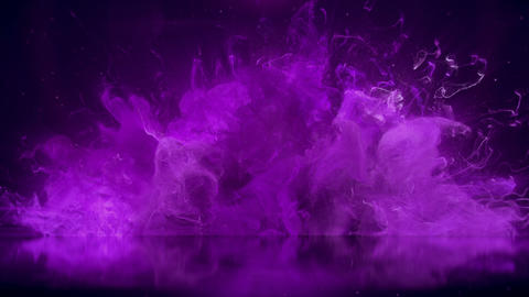Violet Color Burst colorful smoke explosion particles reflection background Animation