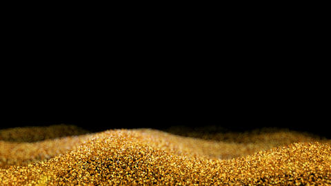 Shiny flowing wave golden glitter seamless VJ loop abstract particle background CG動画