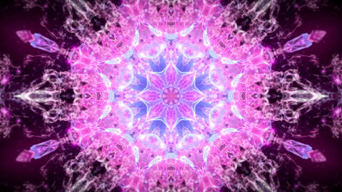 Kaleidoscopic pink blue animated background loop CG動画