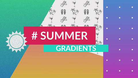 Summer Gradients After Effects Template
