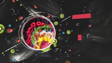Fruits Slideshow Plantilla de After Effects