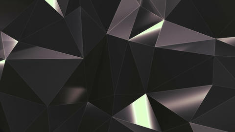 Abstract low poly metal mirror surface loop 2 CG動画