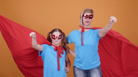 Mom supports her daughter dreams to become a superhero Footage