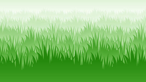 2d grass flat style parallax animated background loop Animation