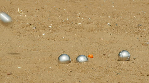petanque french leisure game Footage