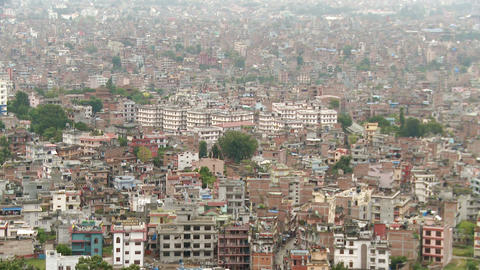 Panorama of Nepal cityscape Footage