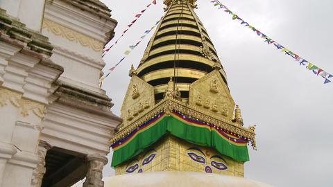 Kathmandu, Nepal buildings Footage