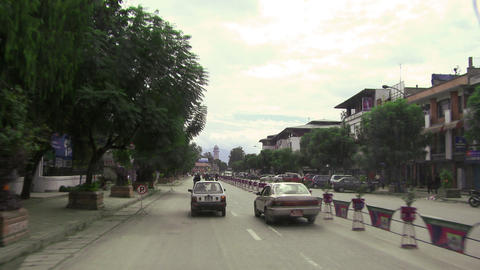 Traffic POV in Nepal Footage