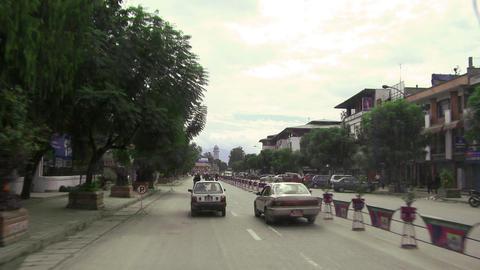Traffic POV in Nepal Footage