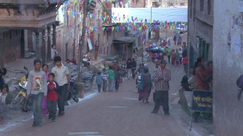 Street traffic in Kathmandu Footage