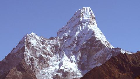 Ama Dablam peak in Nepal Footage