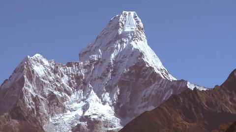 Panorama of Ama Dablam peak in Nepal Footage