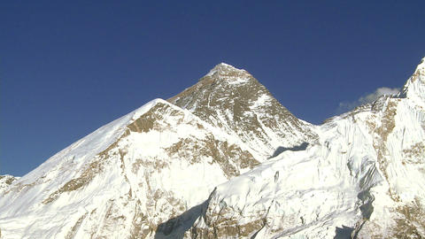 Peaks of Mount Everest, Lhotse, and Nuptse Footage